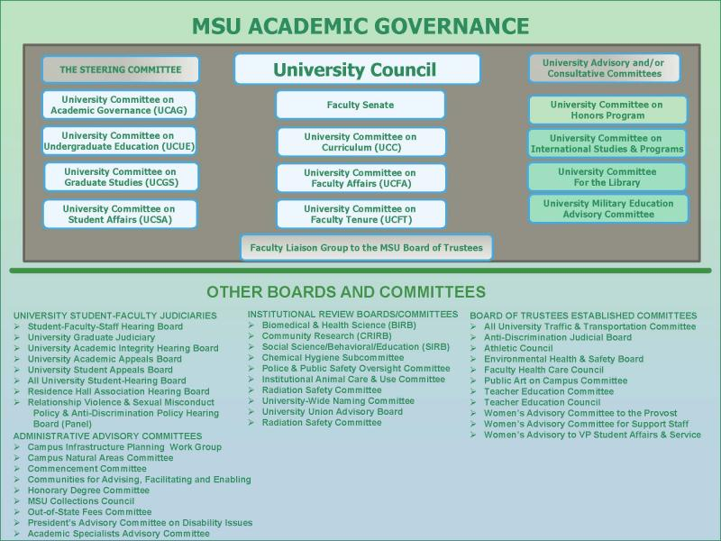 Page 1 of MSU Academic Governance Structure